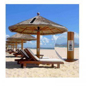 Ηλιακός Φορτιστής TPSU-18 USB για Ομπρέλες Θαλάσσης